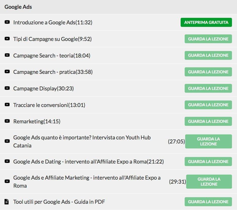 argomenti google Ads